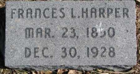 HARPER, FRANCES L. - Dixon County, Nebraska | FRANCES L. HARPER - Nebraska Gravestone Photos