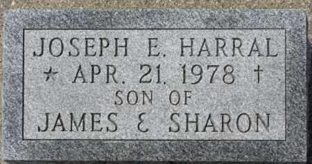 HARRAL, JOSEPH E. - Dixon County, Nebraska | JOSEPH E. HARRAL - Nebraska Gravestone Photos