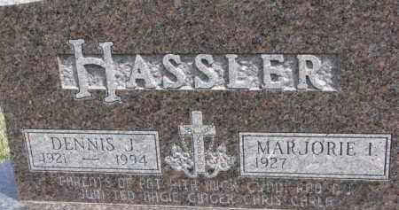 HASSLER, DENNIS J. - Dixon County, Nebraska   DENNIS J. HASSLER - Nebraska Gravestone Photos