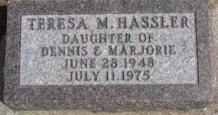 HASSLER, TERESA M. - Dixon County, Nebraska | TERESA M. HASSLER - Nebraska Gravestone Photos