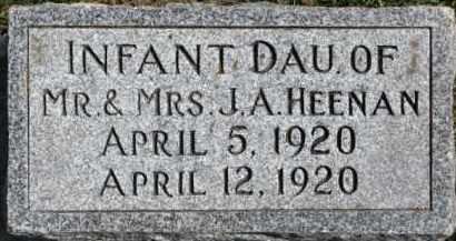 HEENAN, INFANT - Dixon County, Nebraska | INFANT HEENAN - Nebraska Gravestone Photos