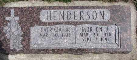 HENDERSON, MORTON J. - Dixon County, Nebraska | MORTON J. HENDERSON - Nebraska Gravestone Photos