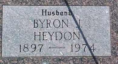 HEYDON, BYRON J. - Dixon County, Nebraska   BYRON J. HEYDON - Nebraska Gravestone Photos