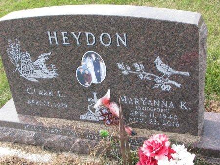 BRIDGEFORD HEYDON, MARYANNA K. - Dixon County, Nebraska   MARYANNA K. BRIDGEFORD HEYDON - Nebraska Gravestone Photos