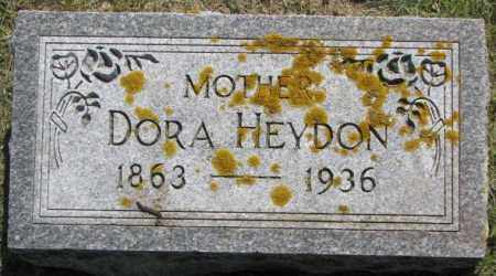 HEYDON, DORA - Dixon County, Nebraska | DORA HEYDON - Nebraska Gravestone Photos