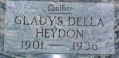 HEYDON, GLADYS DELLA - Dixon County, Nebraska   GLADYS DELLA HEYDON - Nebraska Gravestone Photos