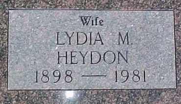 HEYDON, LYDIA M. - Dixon County, Nebraska | LYDIA M. HEYDON - Nebraska Gravestone Photos