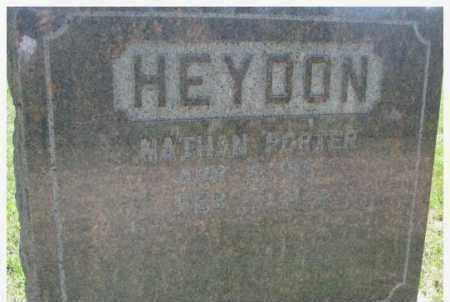 HEYDON, NATHAN PORTER - Dixon County, Nebraska   NATHAN PORTER HEYDON - Nebraska Gravestone Photos