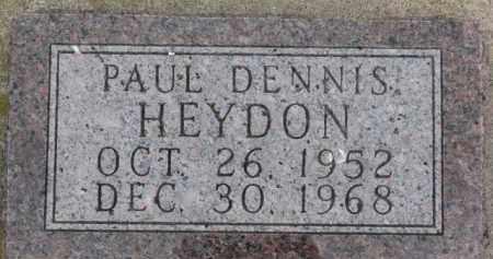 HEYDON, PAUL DENNIS - Dixon County, Nebraska   PAUL DENNIS HEYDON - Nebraska Gravestone Photos