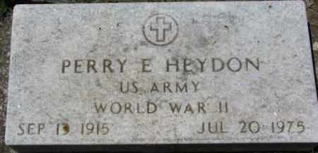 HEYDON, PERRY E. - Dixon County, Nebraska | PERRY E. HEYDON - Nebraska Gravestone Photos