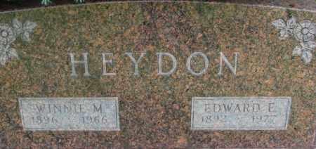 HEYDON, EDWARD E. - Dixon County, Nebraska | EDWARD E. HEYDON - Nebraska Gravestone Photos