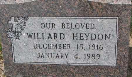 HEYDON, WILLARD - Dixon County, Nebraska | WILLARD HEYDON - Nebraska Gravestone Photos