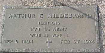 HILDEBRAND, ARTHUR E. (WW I MARKER) - Dixon County, Nebraska | ARTHUR E. (WW I MARKER) HILDEBRAND - Nebraska Gravestone Photos