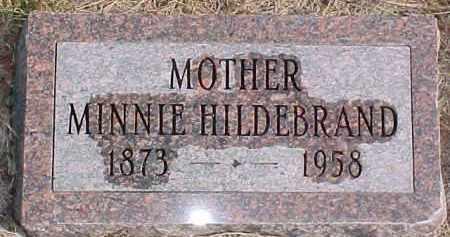HILDEBRAND, MINNIE - Dixon County, Nebraska | MINNIE HILDEBRAND - Nebraska Gravestone Photos