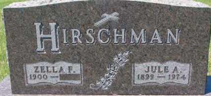 HIRSCHMAN, JULE A. - Dixon County, Nebraska | JULE A. HIRSCHMAN - Nebraska Gravestone Photos