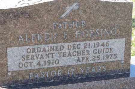 HOESING, FATHER ALFRED F. - Dixon County, Nebraska | FATHER ALFRED F. HOESING - Nebraska Gravestone Photos