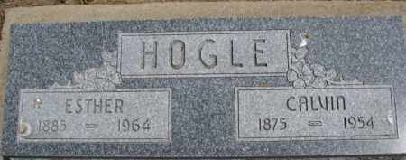 HOGLE, ESTHER - Dixon County, Nebraska | ESTHER HOGLE - Nebraska Gravestone Photos