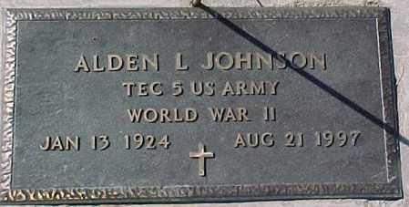 JOHNSON, ALDEN L. (WWII MARKER) - Dixon County, Nebraska   ALDEN L. (WWII MARKER) JOHNSON - Nebraska Gravestone Photos