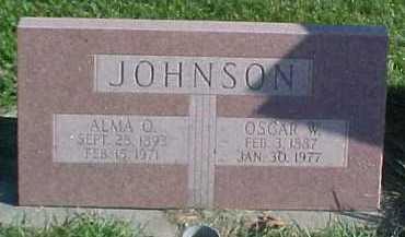 JOHNSON, ALMA O. - Dixon County, Nebraska   ALMA O. JOHNSON - Nebraska Gravestone Photos