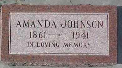 JOHNSON, AMANDA - Dixon County, Nebraska | AMANDA JOHNSON - Nebraska Gravestone Photos