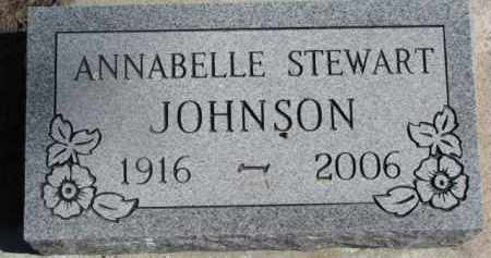 STEWART JOHNSON, ANNABELLE - Dixon County, Nebraska   ANNABELLE STEWART JOHNSON - Nebraska Gravestone Photos
