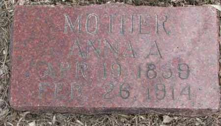 JOHNSON, ANNA A. - Dixon County, Nebraska   ANNA A. JOHNSON - Nebraska Gravestone Photos