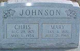 JOHNSON, CHRIS - Dixon County, Nebraska | CHRIS JOHNSON - Nebraska Gravestone Photos