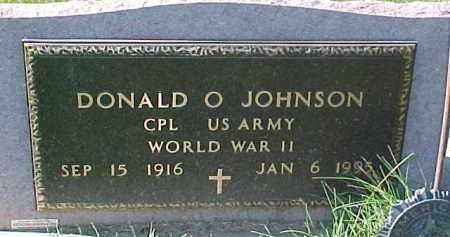 JOHNSON, DONALD O. (WWII MARKER) - Dixon County, Nebraska   DONALD O. (WWII MARKER) JOHNSON - Nebraska Gravestone Photos
