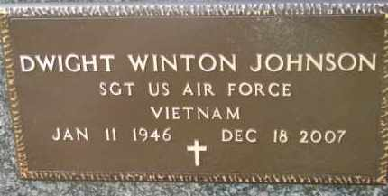 JOHNSON, DWIGHT WINTON (MILITARY MARKER) - Dixon County, Nebraska | DWIGHT WINTON (MILITARY MARKER) JOHNSON - Nebraska Gravestone Photos