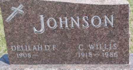 JOHNSON, C. WILLIS - Dixon County, Nebraska   C. WILLIS JOHNSON - Nebraska Gravestone Photos
