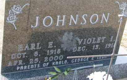 JOHNSON, EARL E. - Dixon County, Nebraska | EARL E. JOHNSON - Nebraska Gravestone Photos