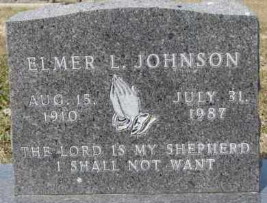JOHNSON, ELMER L. - Dixon County, Nebraska   ELMER L. JOHNSON - Nebraska Gravestone Photos