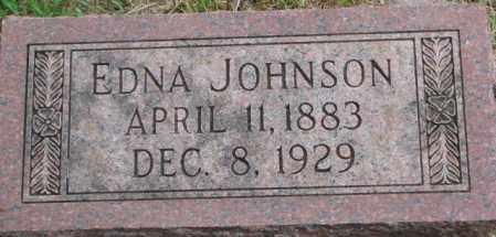 JOHNSON, EDNA - Dixon County, Nebraska   EDNA JOHNSON - Nebraska Gravestone Photos