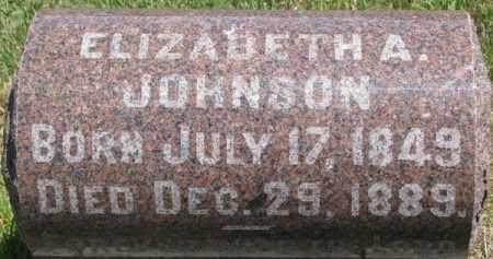 JOHNSON, ELIZABETH A. - Dixon County, Nebraska   ELIZABETH A. JOHNSON - Nebraska Gravestone Photos