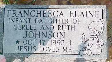 JOHNSON, FRANCHESCA ELAINE - Dixon County, Nebraska   FRANCHESCA ELAINE JOHNSON - Nebraska Gravestone Photos