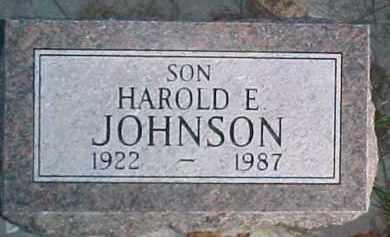 JOHNSON, HAROLD EMMETT - Dixon County, Nebraska   HAROLD EMMETT JOHNSON - Nebraska Gravestone Photos