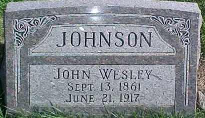 JOHNSON, JOHN WESLEY - Dixon County, Nebraska   JOHN WESLEY JOHNSON - Nebraska Gravestone Photos