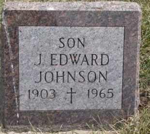 JOHNSON, J. EDWARD - Dixon County, Nebraska   J. EDWARD JOHNSON - Nebraska Gravestone Photos
