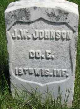 JOHNSON, J.W. - Dixon County, Nebraska   J.W. JOHNSON - Nebraska Gravestone Photos