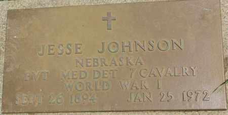 JOHNSON, JESSE (WW I MARKER) - Dixon County, Nebraska   JESSE (WW I MARKER) JOHNSON - Nebraska Gravestone Photos
