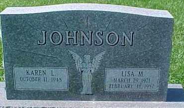 JOHNSON, KAREN - Dixon County, Nebraska   KAREN JOHNSON - Nebraska Gravestone Photos