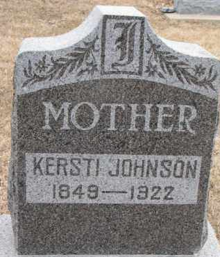 JOHNSON, KERSTI - Dixon County, Nebraska | KERSTI JOHNSON - Nebraska Gravestone Photos