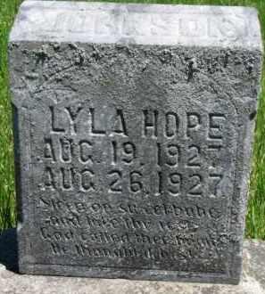 JOHNSON, LYLA HOPE - Dixon County, Nebraska | LYLA HOPE JOHNSON - Nebraska Gravestone Photos