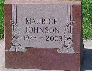 JOHNSON, MAURICE - Dixon County, Nebraska | MAURICE JOHNSON - Nebraska Gravestone Photos