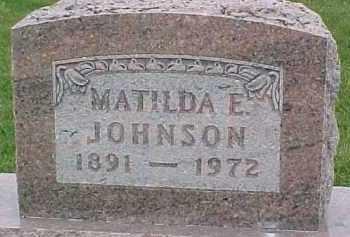 JOHNSON, MATILDA E. - Dixon County, Nebraska | MATILDA E. JOHNSON - Nebraska Gravestone Photos