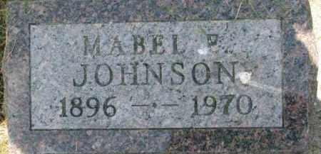 JOHNSON, MABEL P. - Dixon County, Nebraska | MABEL P. JOHNSON - Nebraska Gravestone Photos