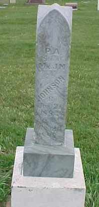 JOHNSON, P.A. - Dixon County, Nebraska   P.A. JOHNSON - Nebraska Gravestone Photos