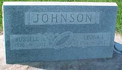 JOHNSON, RUSSELL A. - Dixon County, Nebraska | RUSSELL A. JOHNSON - Nebraska Gravestone Photos