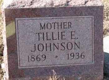 JOHNSON, TILLIE E. - Dixon County, Nebraska   TILLIE E. JOHNSON - Nebraska Gravestone Photos