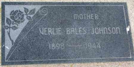 JOHNSON, VERLE - Dixon County, Nebraska   VERLE JOHNSON - Nebraska Gravestone Photos